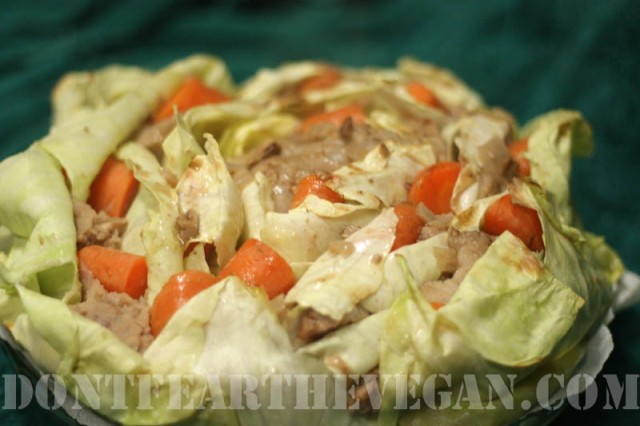 Corned Stuffed Cabbage