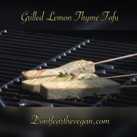 Lemon Tofu Skewers with Satay Sauce