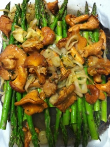 Roasted Asparagus and Chanterelle's
