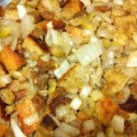 Stuffing With Field Roast Apple Sage Sausage