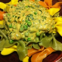 Creamy Pea & Spinach Sauce with Pasta