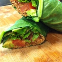 Smokey Pecan, Avocado, Lettuce, and Tomato Wrap