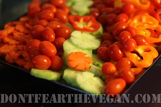 Flower Veggie plate