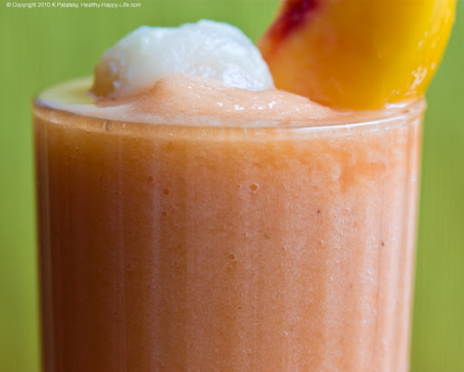 Peachy Lychee Daiquiri via Healthy. Happy. Life.