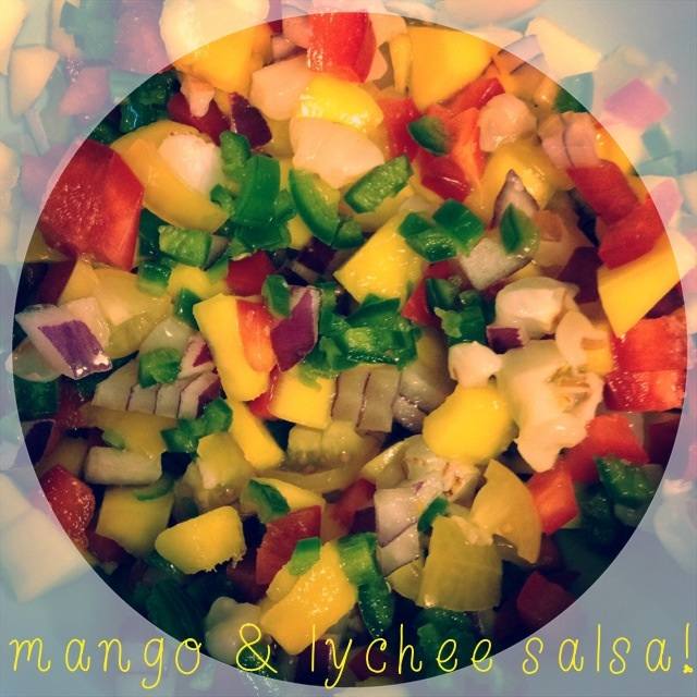 Mango & Lychee Salsa via Logical Harmony