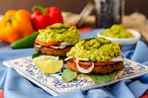 Soyrizo Guacamole Burger via Vegan Yak Attack