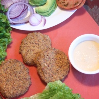 Vegan MOFO, Day 16: Sprouted Adzuki Bean and Walnut Burgers
