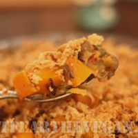 Wild Rice, Butternut Squash, and Mushroom Casserole