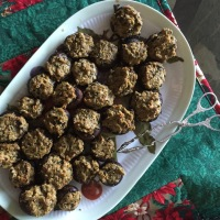 Stuffed Mushrooms with Trader Joe's Antipasto and Miyoko's Creamery High Sierra Rustic Alpine