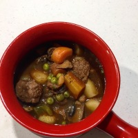 Gardein Beefless Tips Soup With Hard Apple Cider